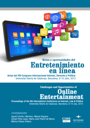 Proceedings cover for Challenges and Opportunities of Online Entertainment