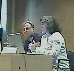 Left to right: Pere Fabra, Marta Poblet