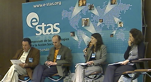 Photo. Left to right: Raoul Weiler, Jérôme Combaz, María del Mar Negreiro, Berta Maure Rubio