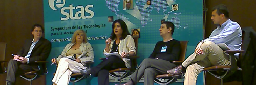 Photo. Left to right: Fabio Nascimbeni, Susana Finquelievich, Georgina Cisquella (moderator), Enrique Varela, Julio Andrade