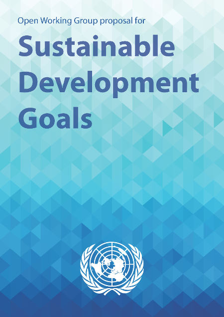 Cover of the Open Working Group Proposal for Sustainable Development Goals