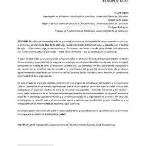 Cover of Activismo desde el consumo cooperativo de productos agroalimentarios (IDP2016)