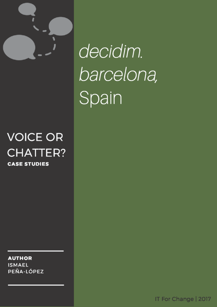 Cover for the case study of decidim.barcelona
