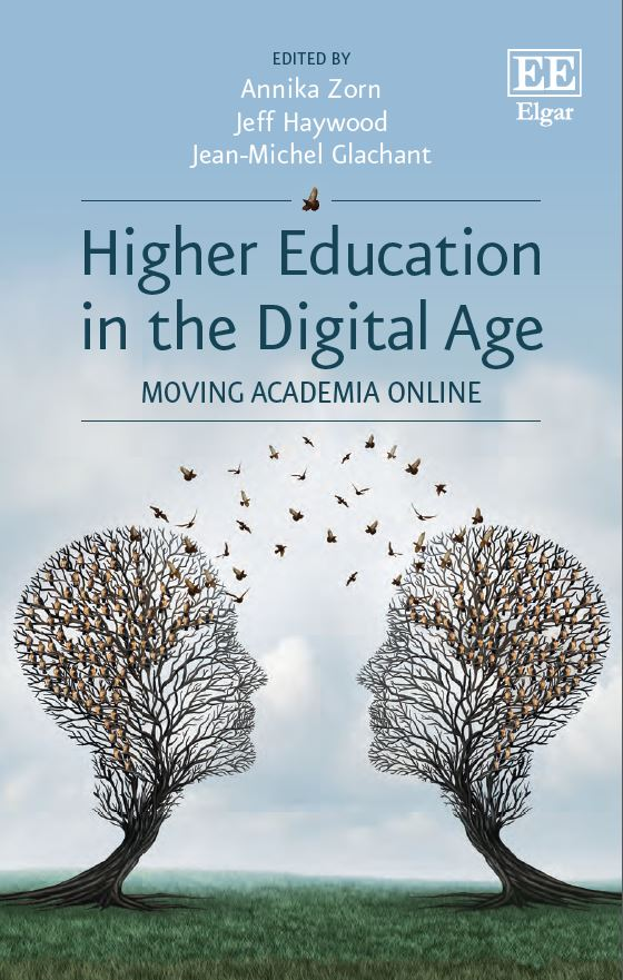 Book cover for Higher Education in the Digital Age. Moving Academia Online