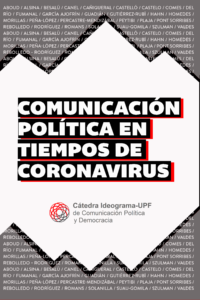 "Cover of the draft opinion ""Book cover of Comunicación política en tiempos de coronavirus"""