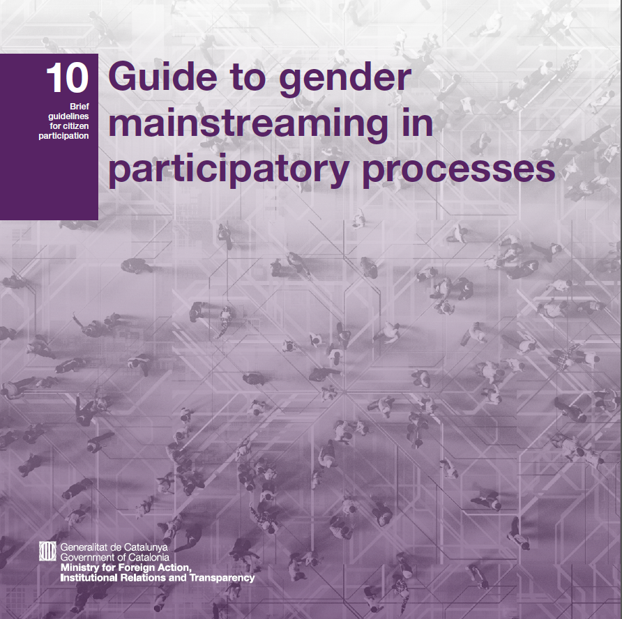 "Cover of the ""Guide to gender mainstreaming in participatory processes"""