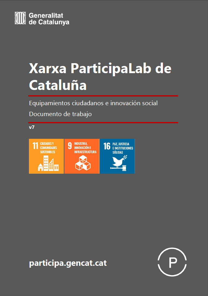 "Cover of the report ""Xarxa ParticipaLab de Cataluña. Equipamientos ciudadanos e innovación social"""