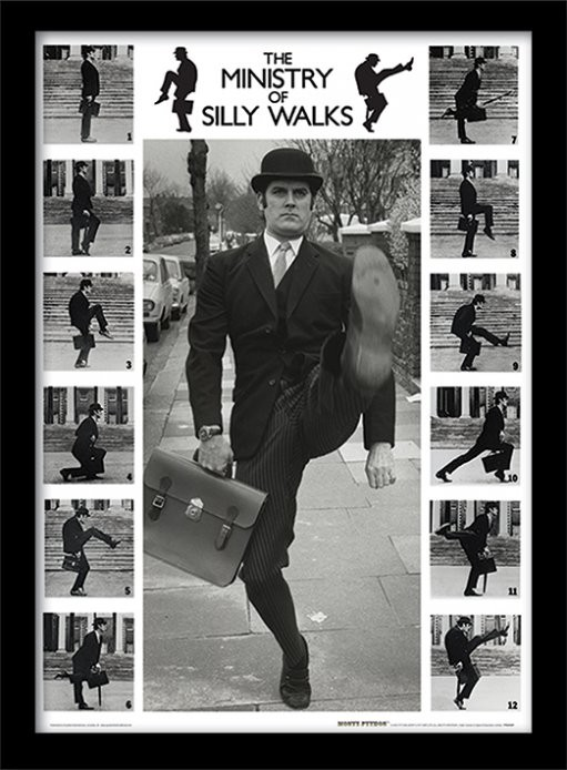 """Poster del """"Ministry of Silly Walks"""" de Monty Python"""