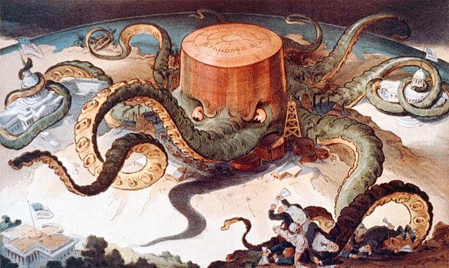 Imagen de la Standard Oil como un pulpo monopolista