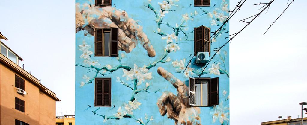 Pintura mural en un edificio