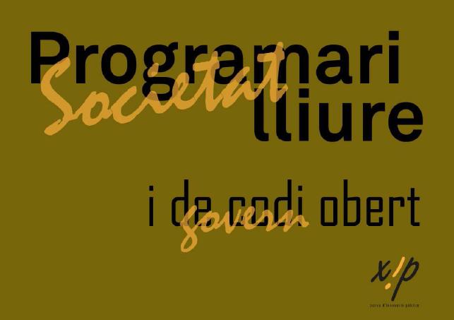 Cubierta de Programari lliure i de codi obert – Societat lliure i govern obert