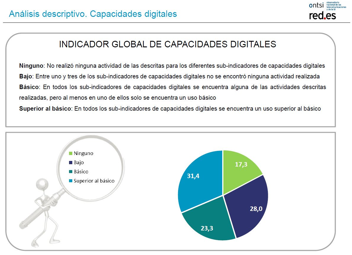 ONTSI. Perfil Internautas 2017. Capacidades digitales: indicador global
