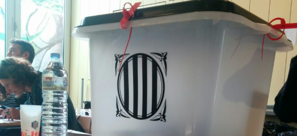 Imagen de una urna del 1 de octubre de 2017