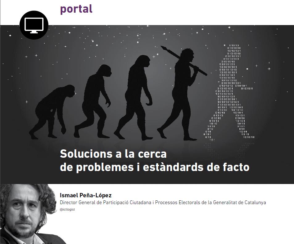 Portada del artículo Soluciones a la búsqueda de problemas y estándares de facto